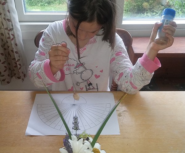 Mia figlia Sophie che utilizza il Pendolo. Che amore!