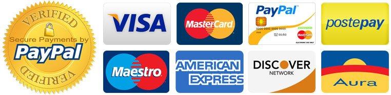 Pagamenti sicuri e garantiti con Paypal